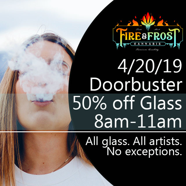 doorbuster 4/20 deals glass sale cannabis